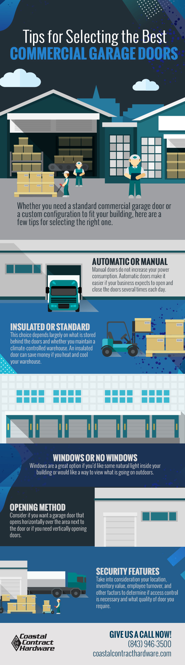 Tips for Selecting the Best Commercial Garage Doors [infographic]